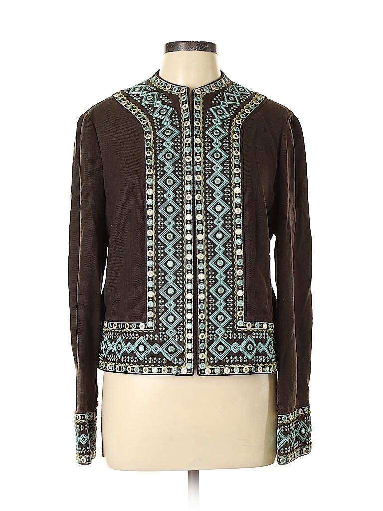 Tory Burch Women Silk Blazer Size 12