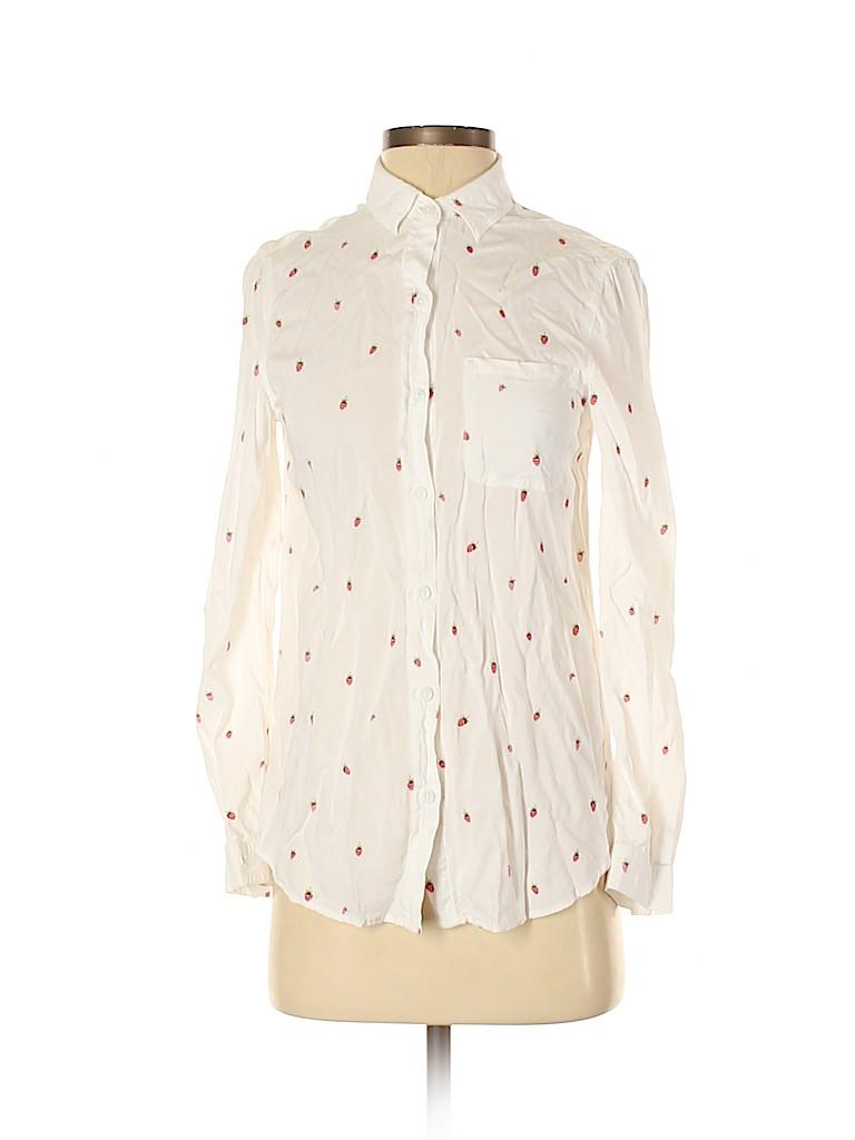 BeachLunchLounge Women Long Sleeve Button-Down Shirt Size XS