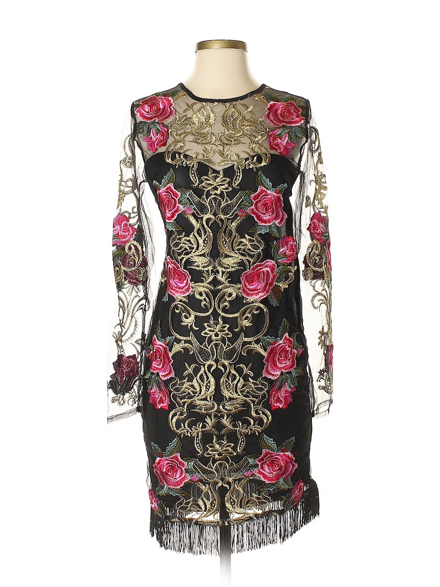 Vestido De Cóctel Latiste Por Amy Mujer Negro Sm Ebay