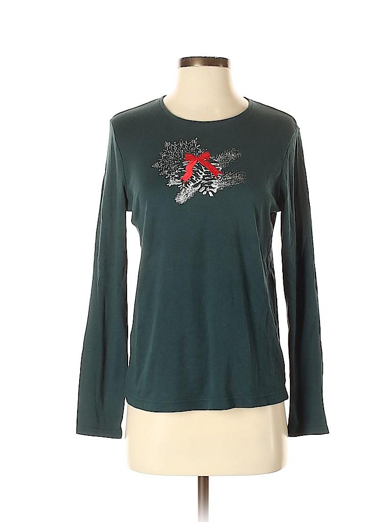 Croft & Barrow Women Long Sleeve T-Shirt Size S
