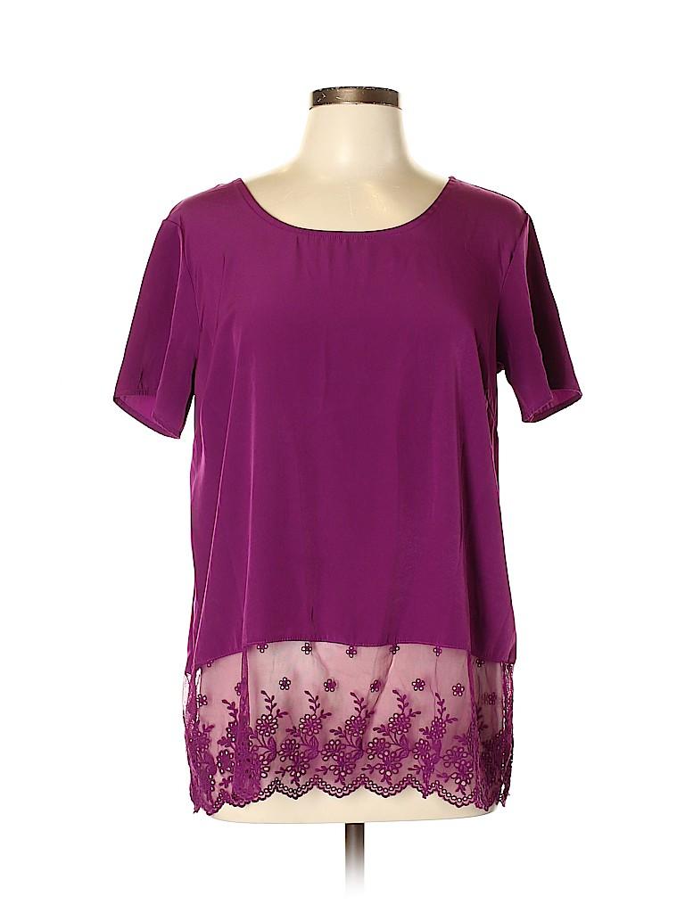 Gibson Women Short Sleeve Blouse Size M