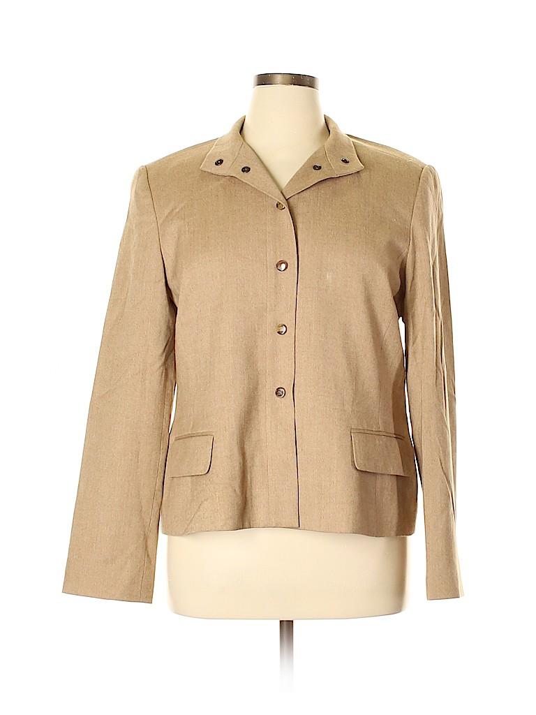 Linda Allard Ellen Tracy Women Wool Blazer Size 16