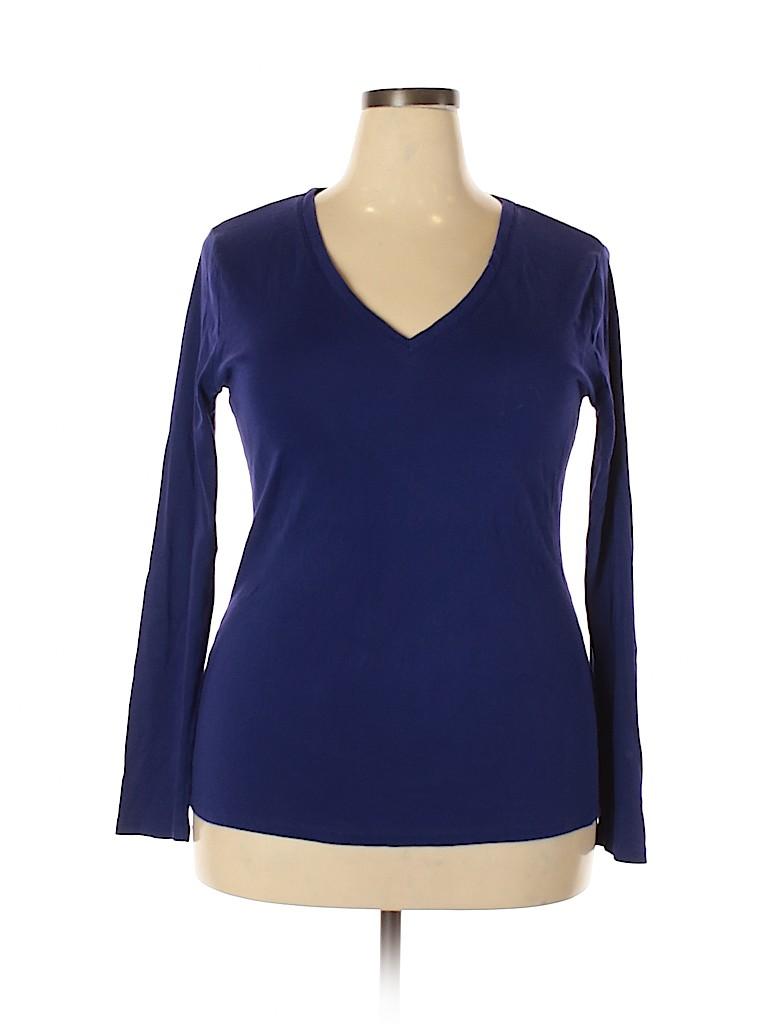 Merona Women Long Sleeve T-Shirt Size XXL