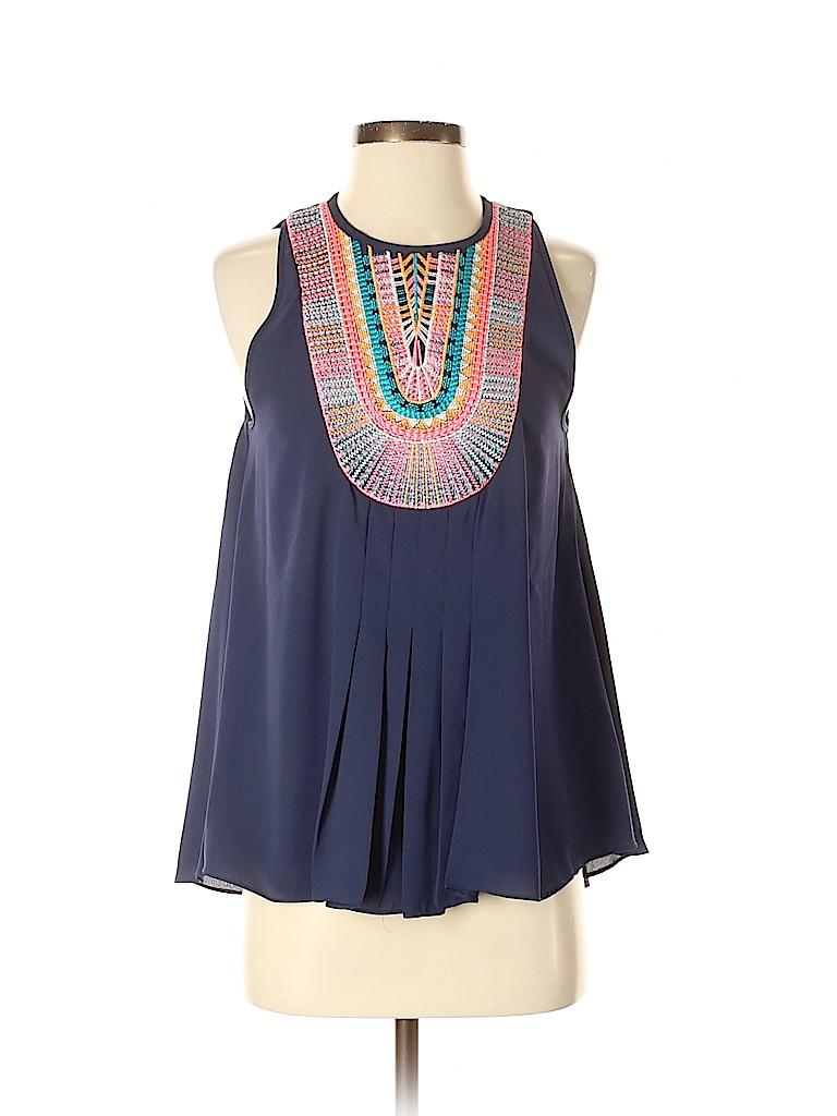 Ranna Gill Women Sleeveless Blouse Size S