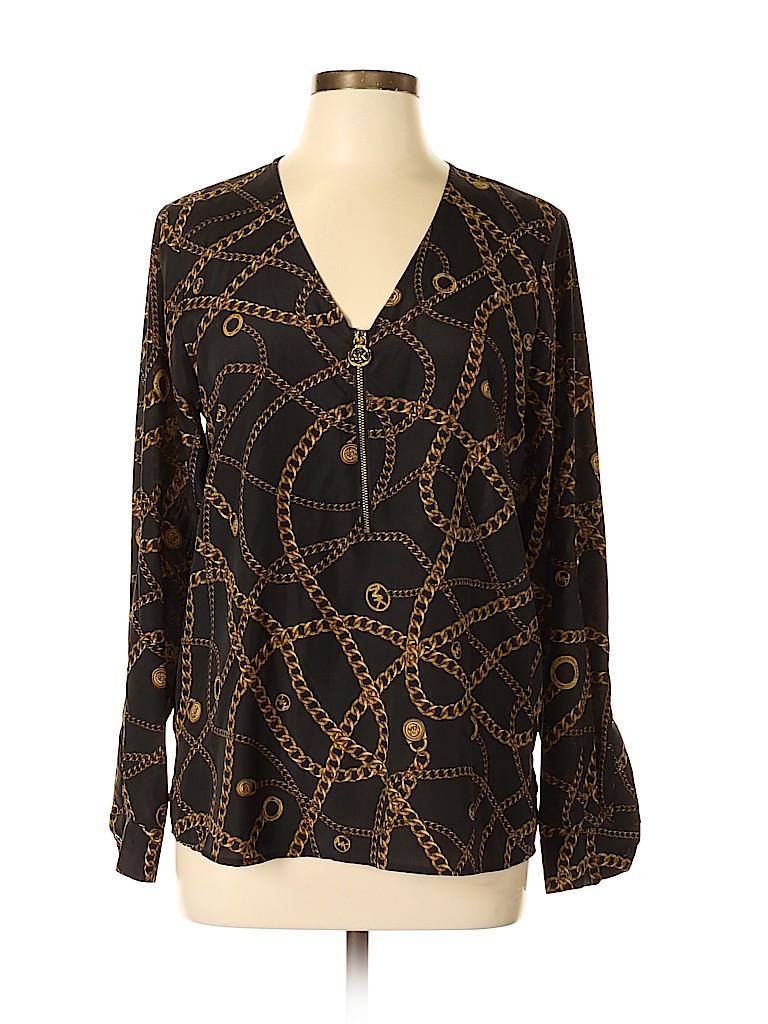 MICHAEL Michael Kors Women Long Sleeve Blouse Size 10
