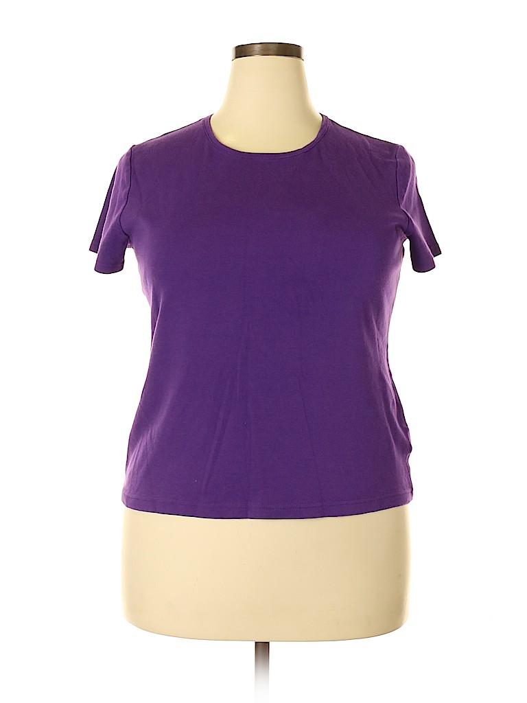 Croft & Barrow Women Short Sleeve T-Shirt Size XL