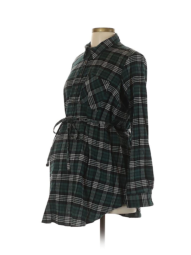 Inspire Maternity Women Long Sleeve Button-Down Shirt Size L (Maternity)