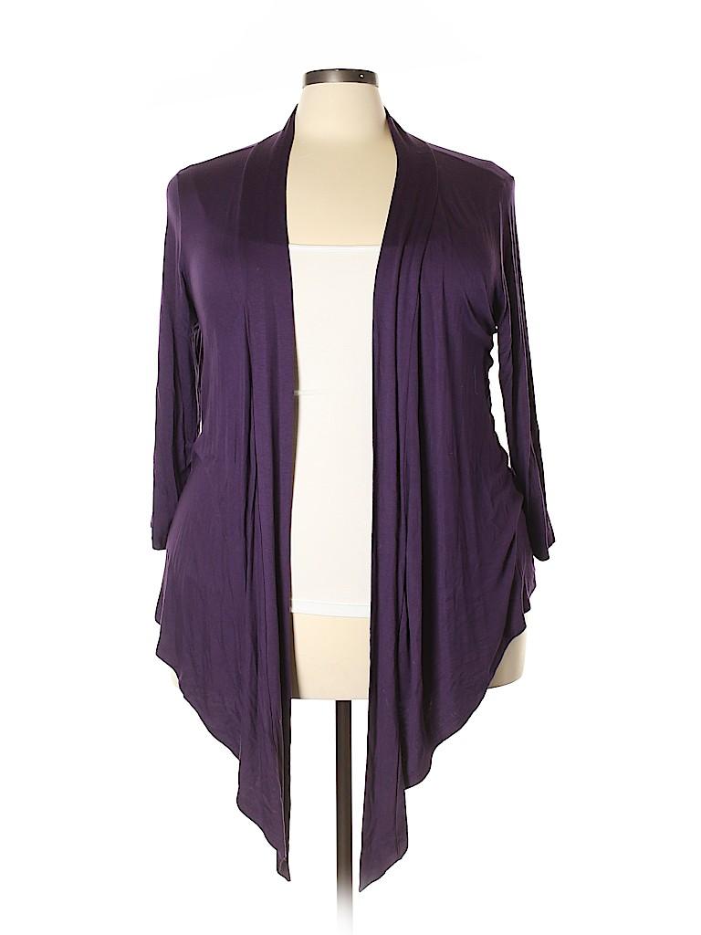 Ellen Tracy Women Cardigan Size 2X (Plus)