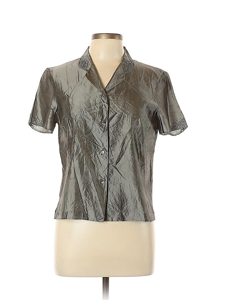 Dosa Women Short Sleeve Silk Top Size Lg (3)