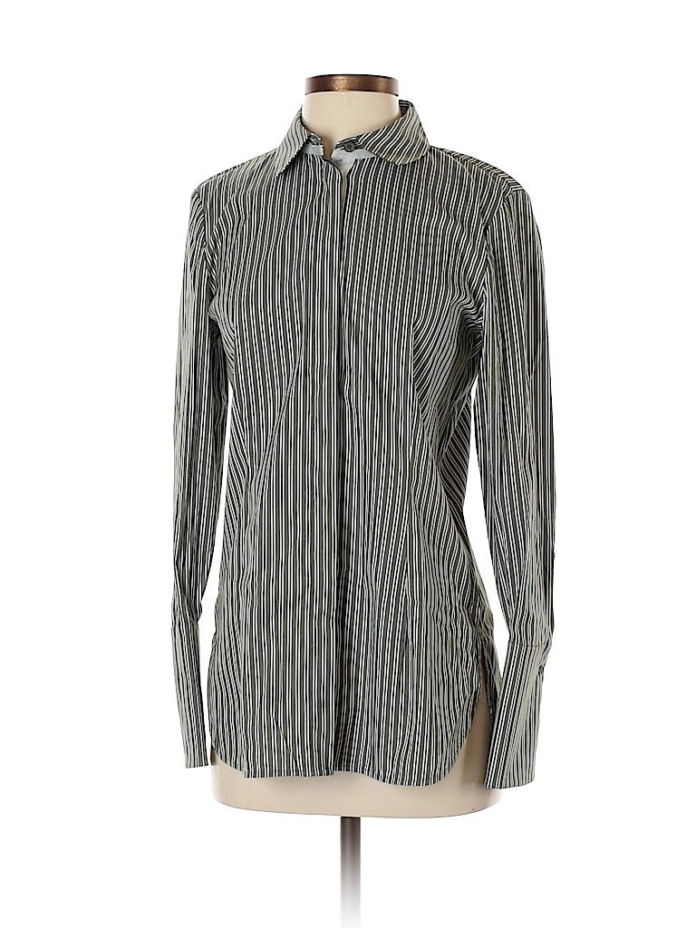 Lafayette 148 New York Women Long Sleeve Button-Down Shirt Size S