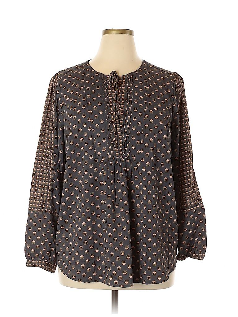 Ann Taylor LOFT Women Long Sleeve Blouse Size 16 (Plus)