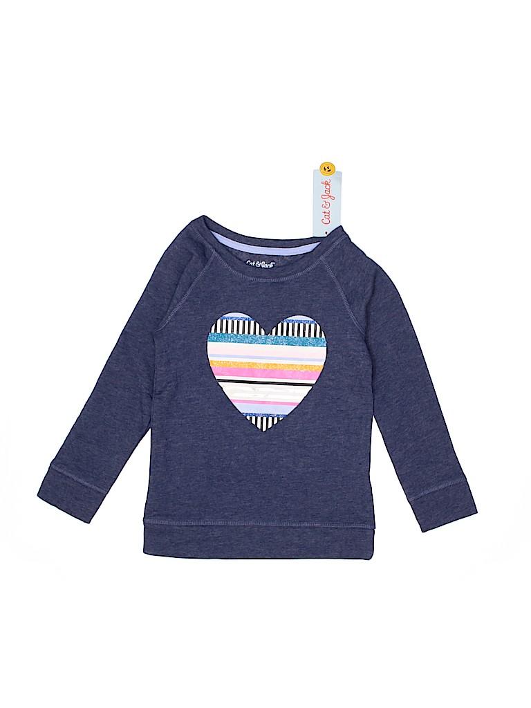 Cat & Jack Girls Sweatshirt Size 4T