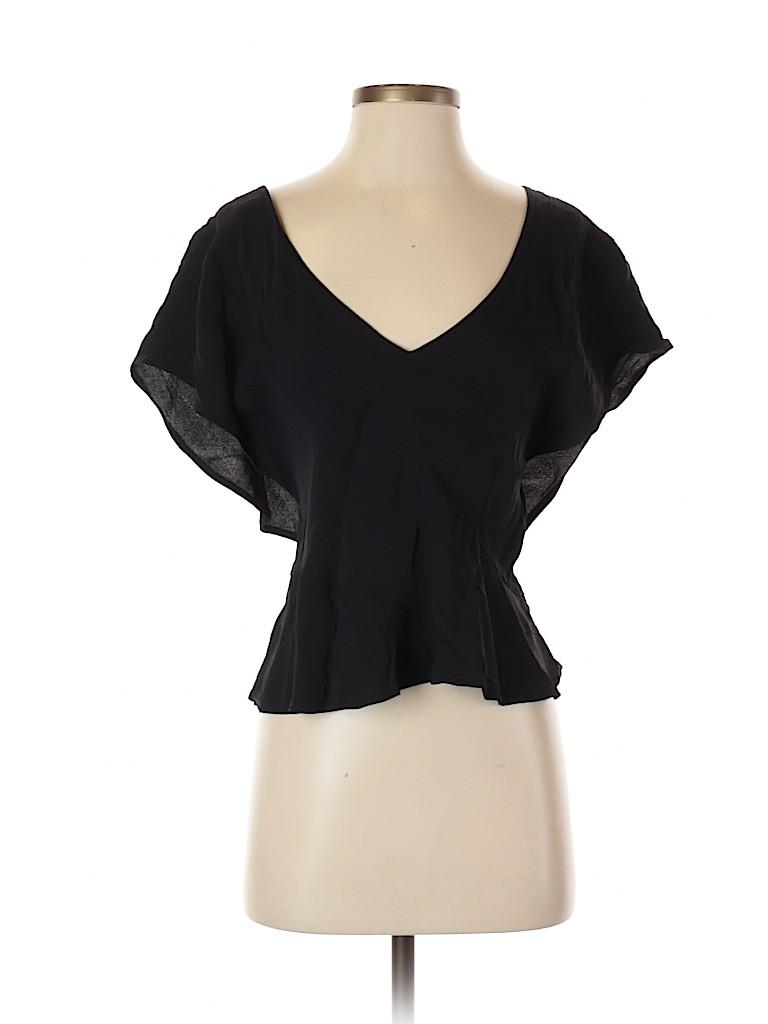 Yves Saint Laurent Rive Gauche Women Short Sleeve Blouse Size 40 (FR)