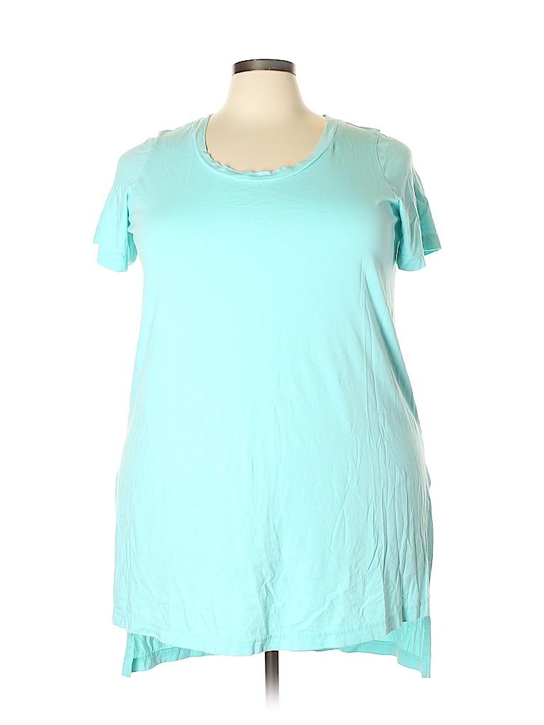 Roaman's Women Short Sleeve T-Shirt Size 18 (L) (Plus)