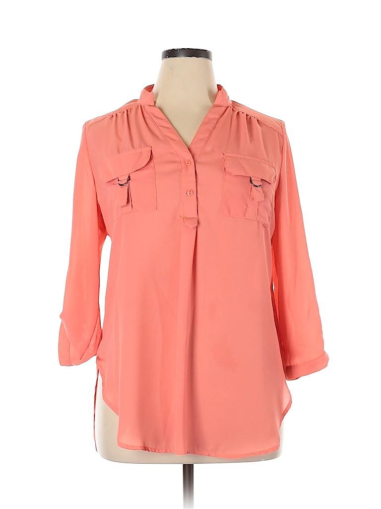 Justify Women Long Sleeve Blouse Size XL