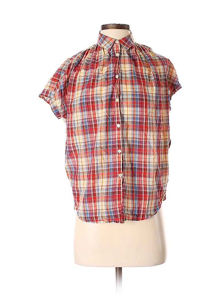 Madewell Women Short Sleeve Button-Down Shirt Size XXS