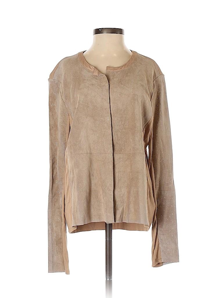 Ecru Women Leather Jacket Size S
