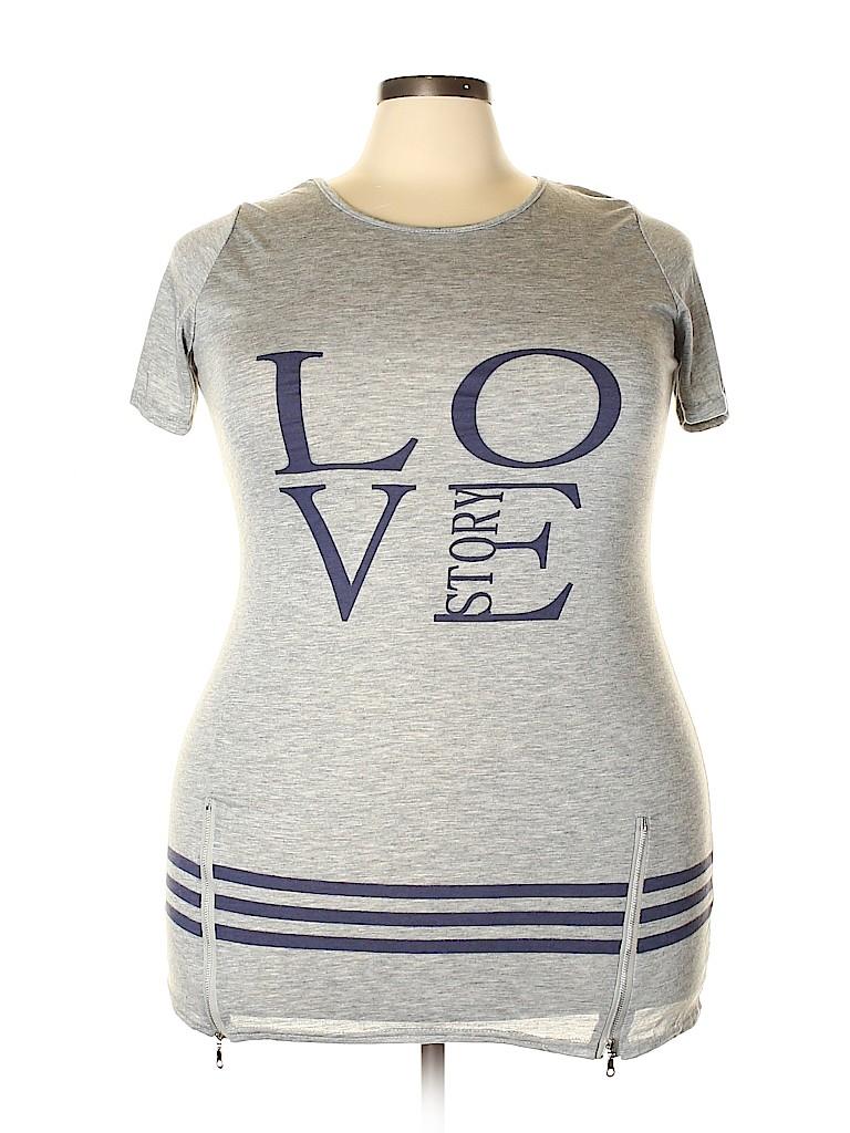 Unbranded Women Short Sleeve T-Shirt Size 5X (Plus)