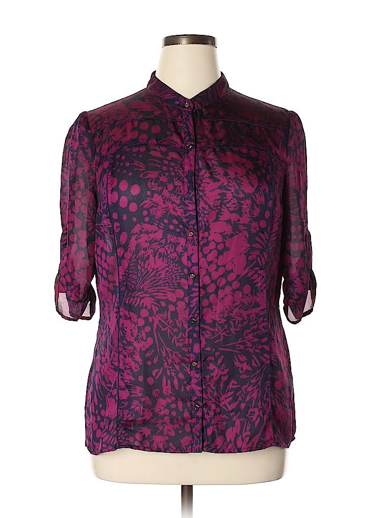 Banana Republic Factory Store Women 3/4 Sleeve Blouse Size XL