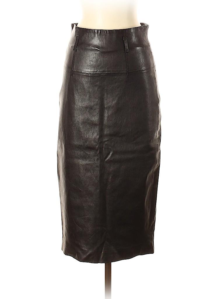 Robert Rodriguez Women Leather Skirt Size 6