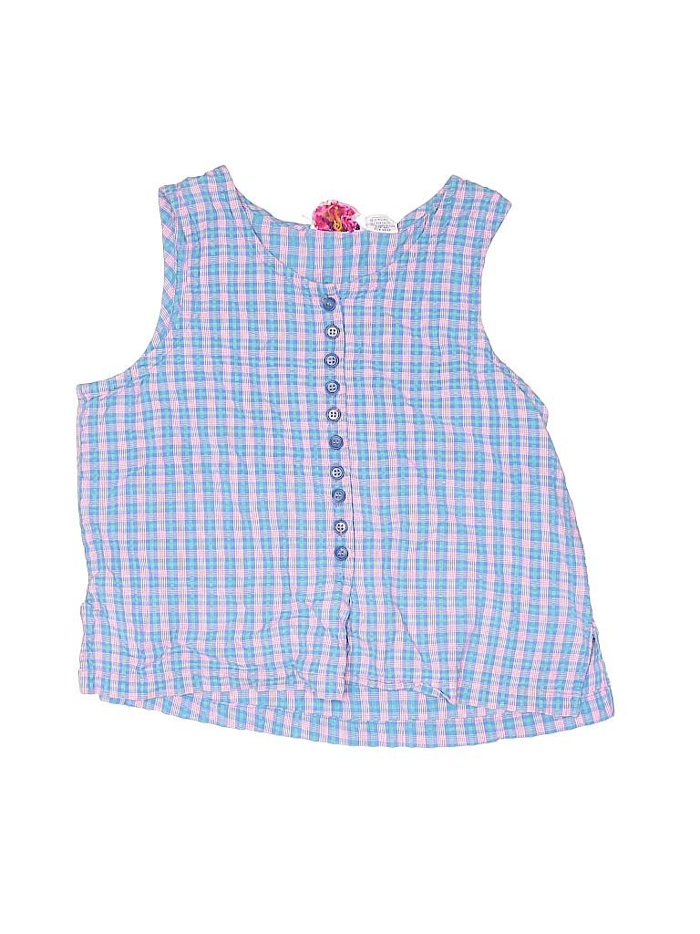 Assorted Brands Girls Sleeveless Button-Down Shirt Size X-Small (Kids)