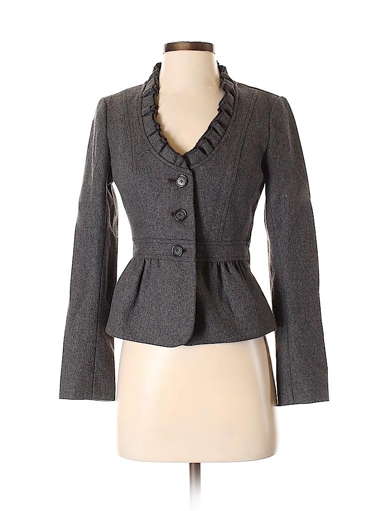 Ann Taylor LOFT Women Wool Blazer Size 0 (Petite)