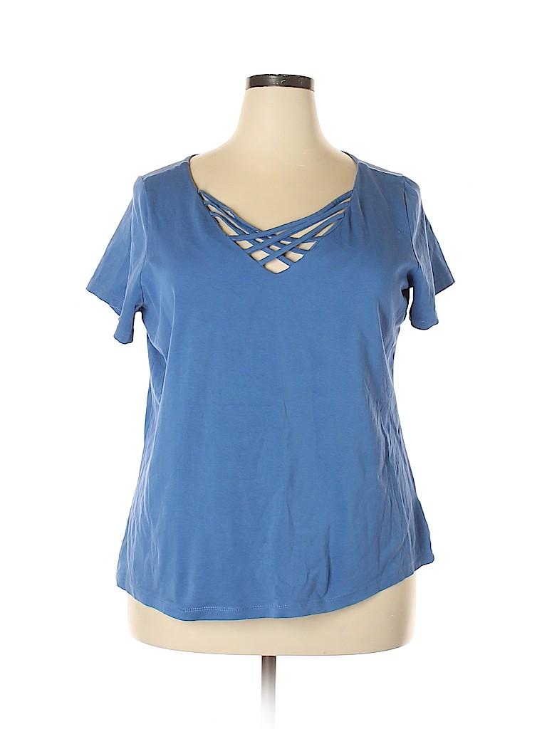 Avenue Women Short Sleeve Top Size 18 - 20 Plus (Plus)