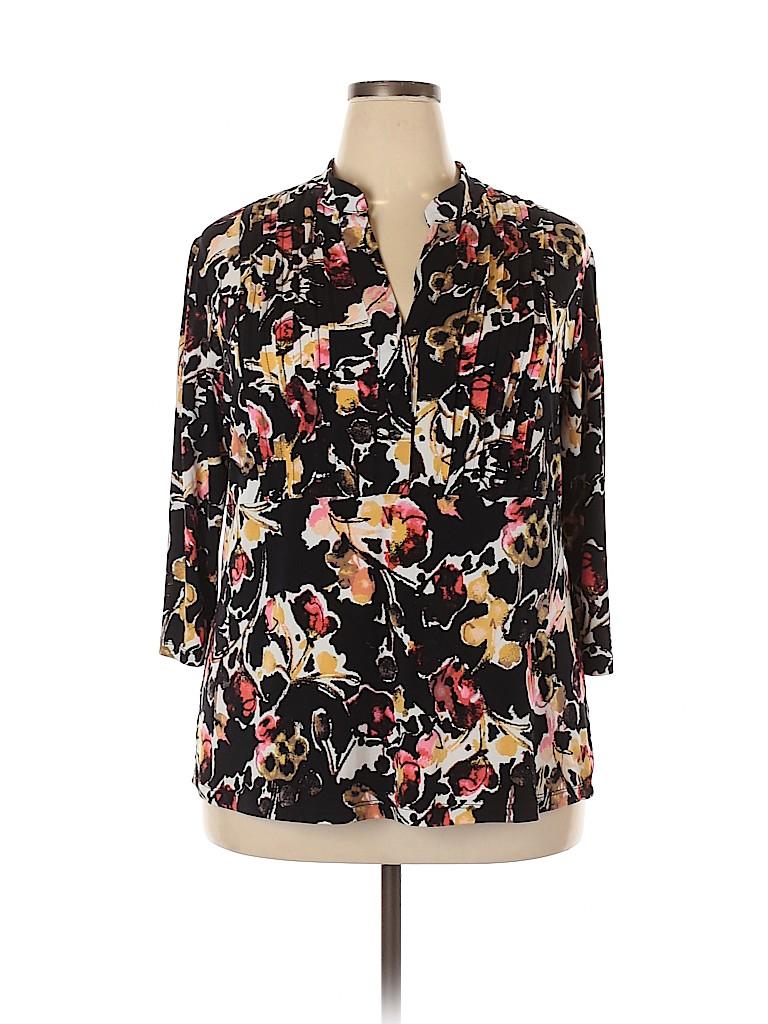 Style&Co Women 3/4 Sleeve Blouse Size 2X (Plus)
