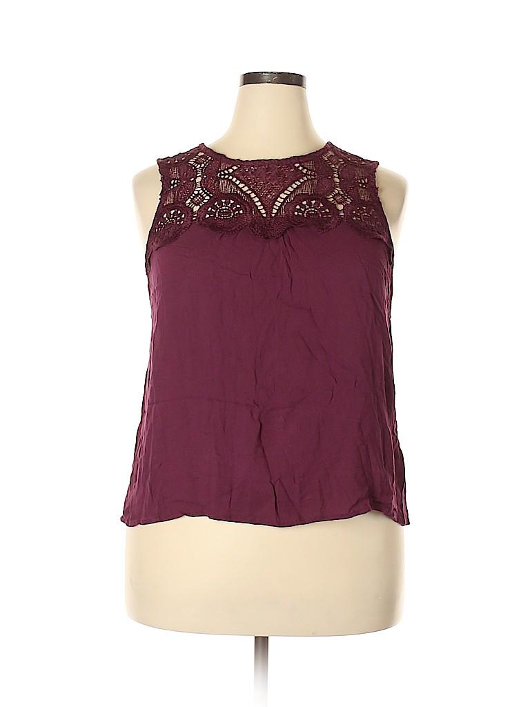 Grayson Threads Women Sleeveless Blouse Size 1X (Plus)