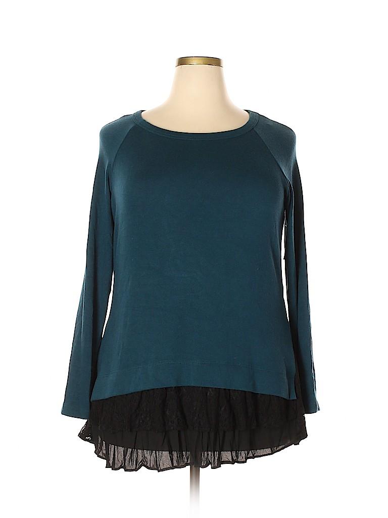 Karen Kane Women Pullover Sweater Size 1X (Plus)