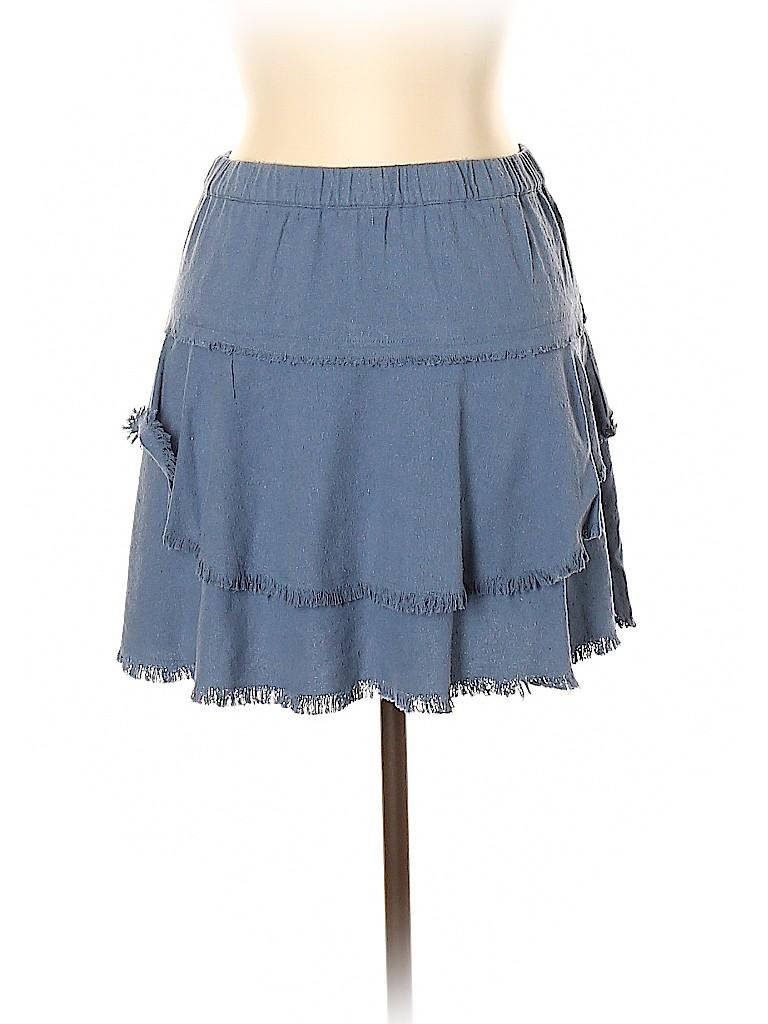 Scoop NYC Women Silk Skirt Size L
