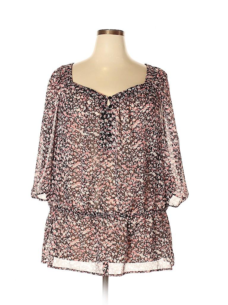 Liz Claiborne Women 3/4 Sleeve Blouse Size 3X (Plus)