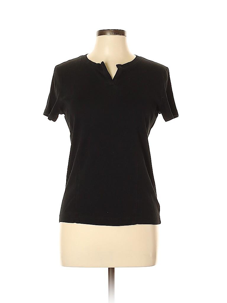 Jones New York Signature Women Short Sleeve Top Size L