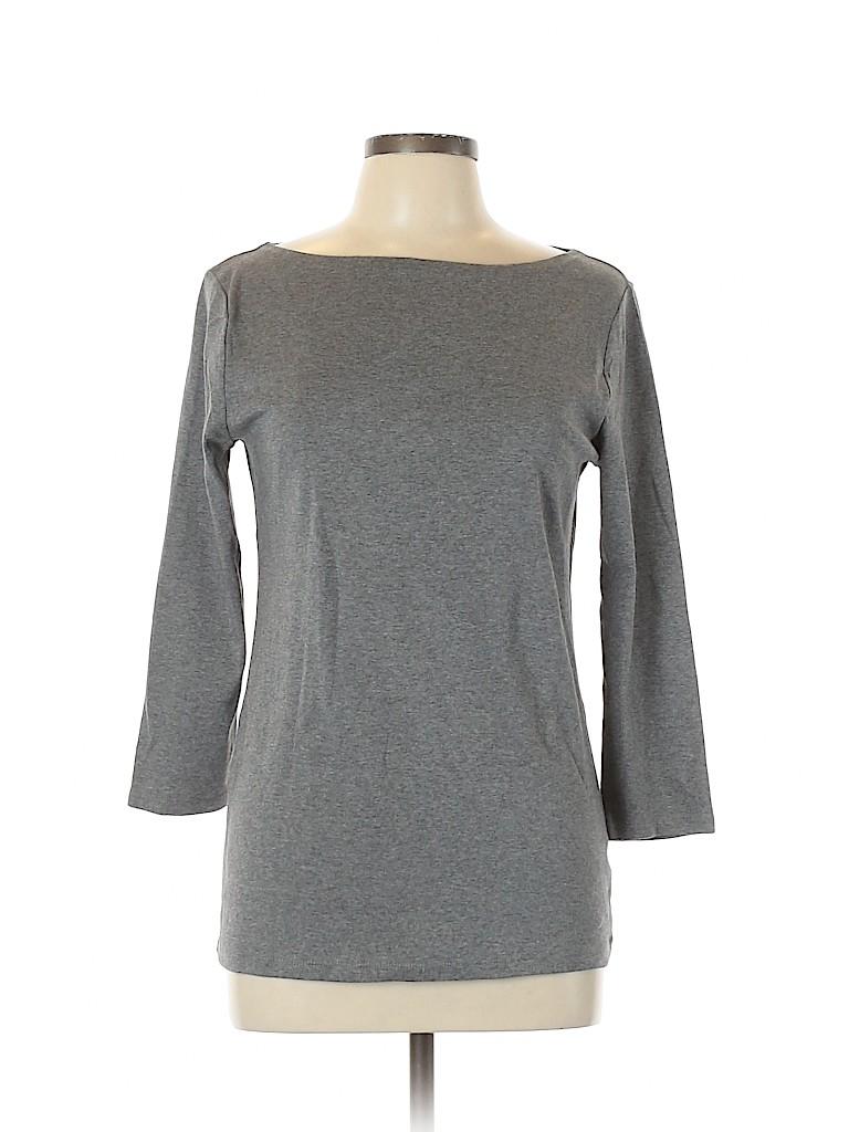 Jones New York Signature Women 3/4 Sleeve T-Shirt Size L