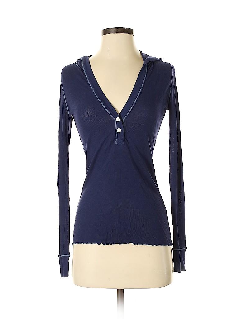 Splendid Women Long Sleeve Henley Size M