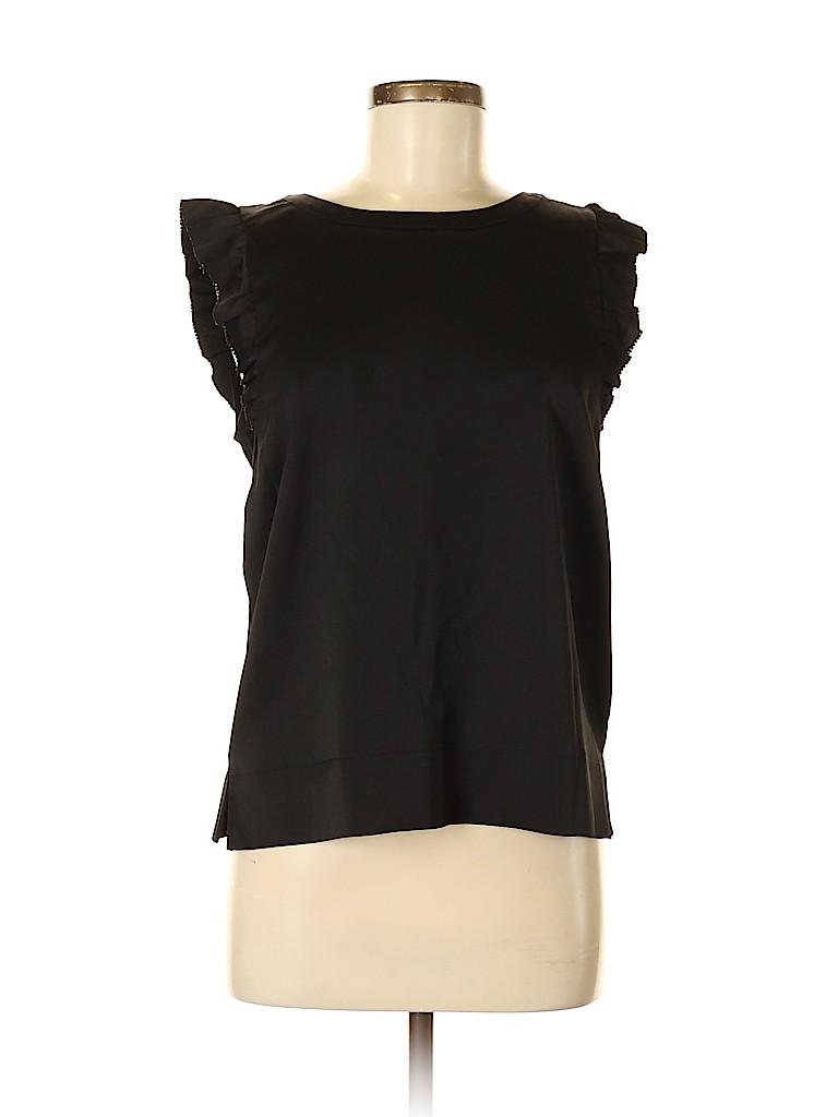 Ann Taylor Women Short Sleeve Blouse Size M