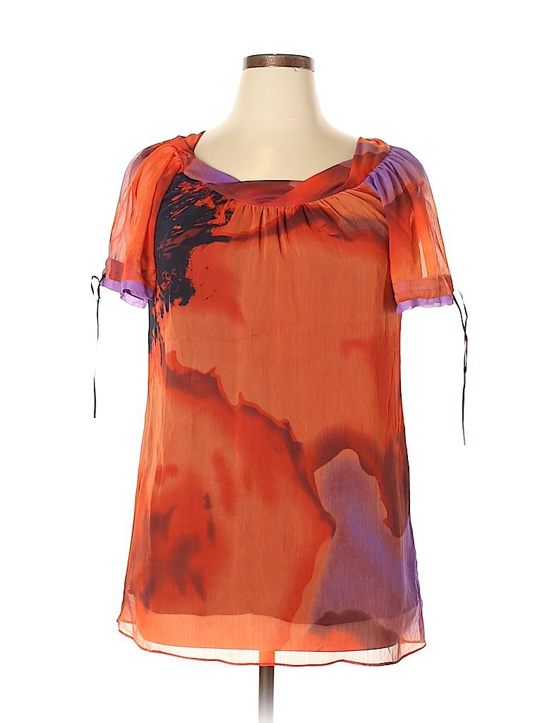 Arden B. Women Short Sleeve Blouse Size L