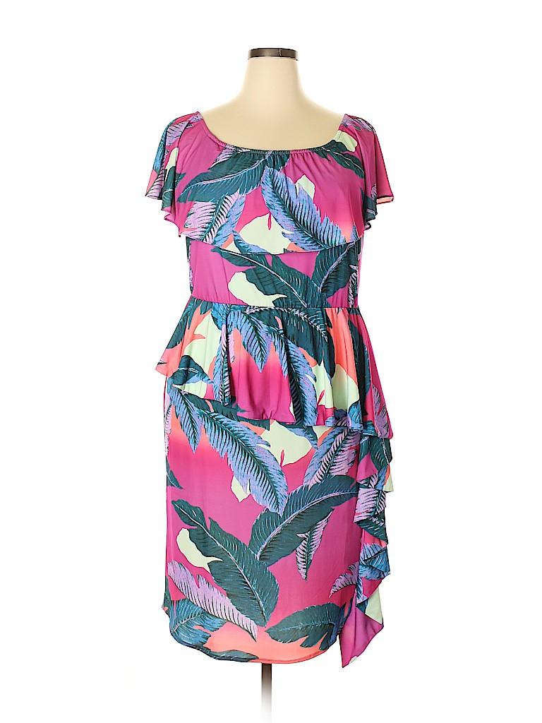 Colleen Lopez Women Casual Dress Size 1X (Plus)