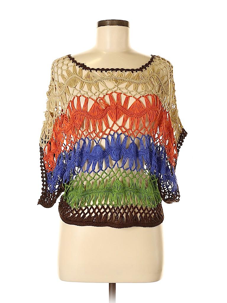 Umgee Women Short Sleeve Blouse Size M