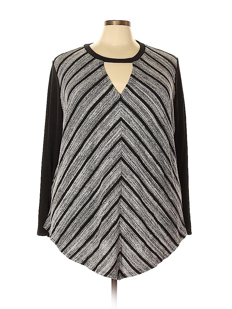 Avenue Women Long Sleeve Top Size 30 - 32 Plus (Plus)