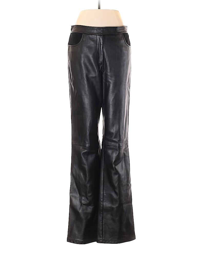 DKNY Women Leather Pants Size 8
