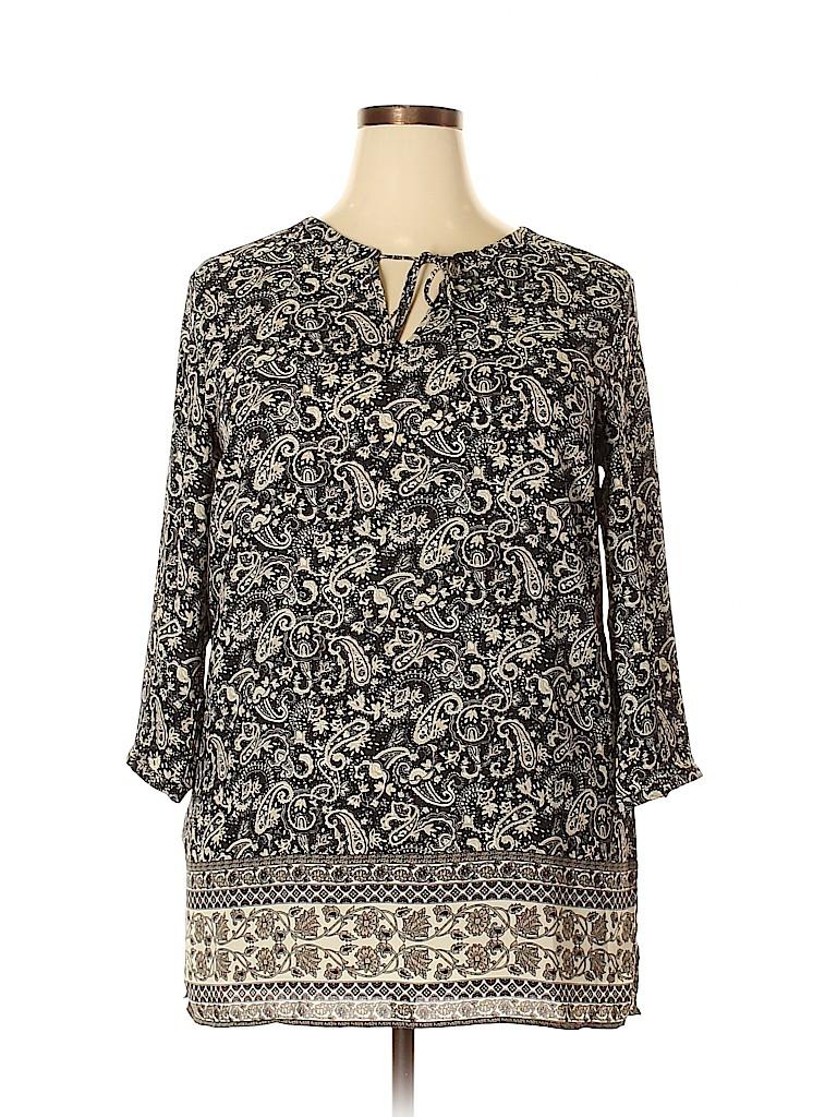 Lila Rose Women 3/4 Sleeve Blouse Size XL