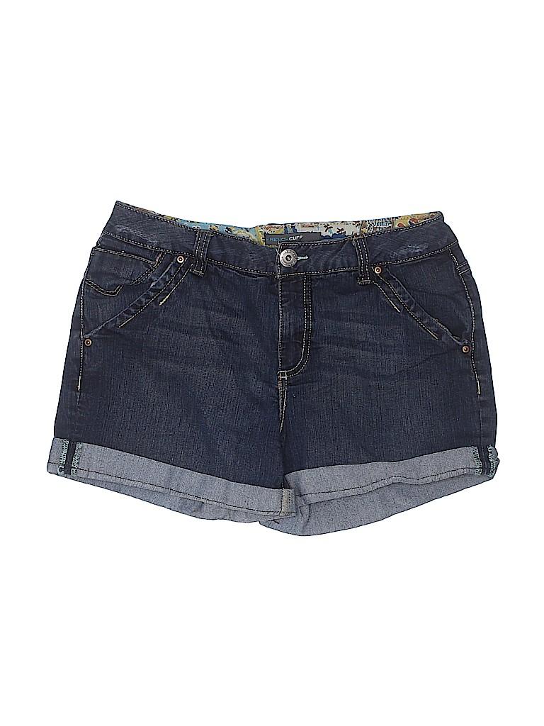 French Cuff Women Denim Shorts Size 6