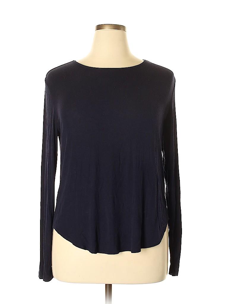 Joan Vass Women Long Sleeve Top Size XL