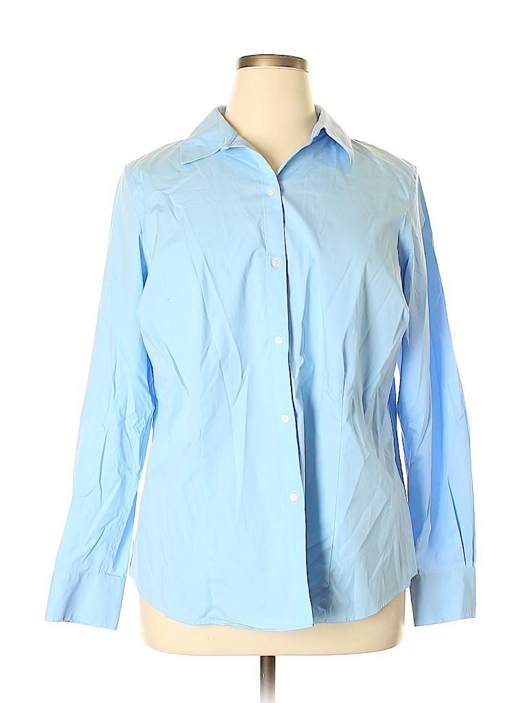 Liz Claiborne Women Long Sleeve Button-Down Shirt Size 1X (Plus)