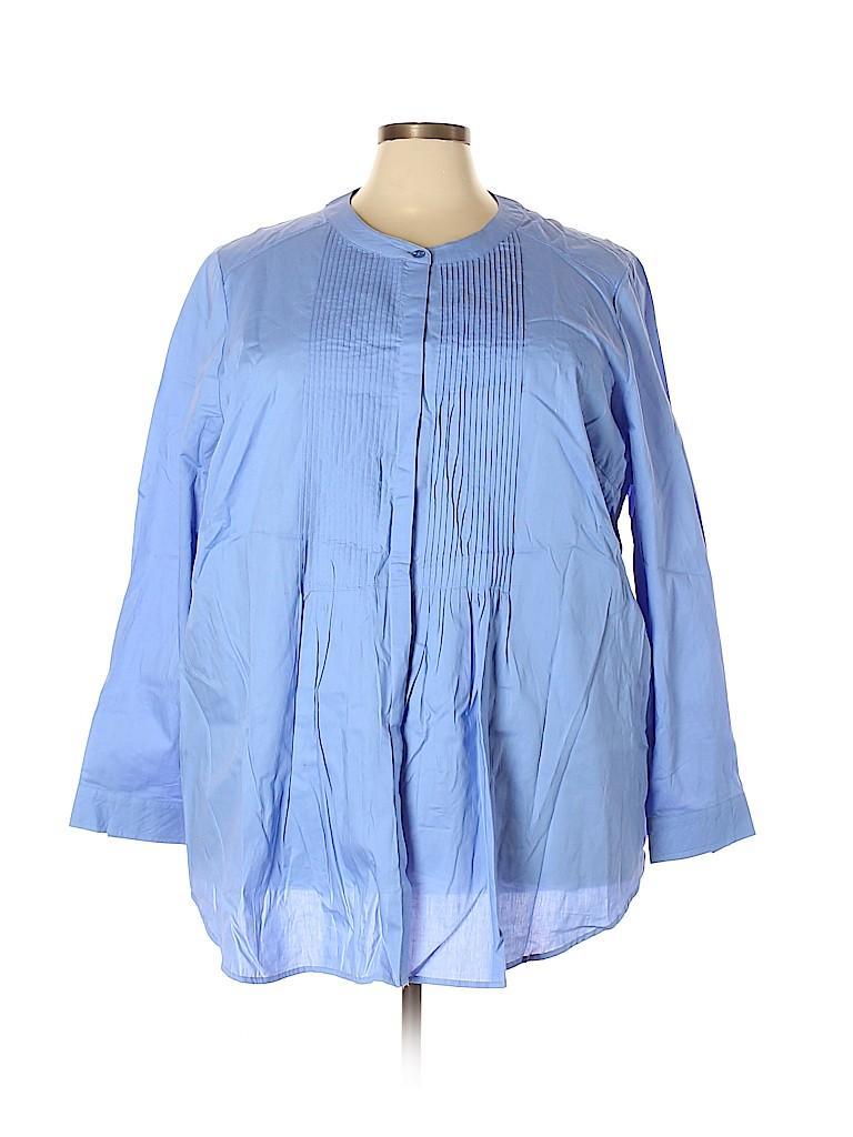 Woman Within Women Long Sleeve Blouse Size 30 (3X) (Plus)