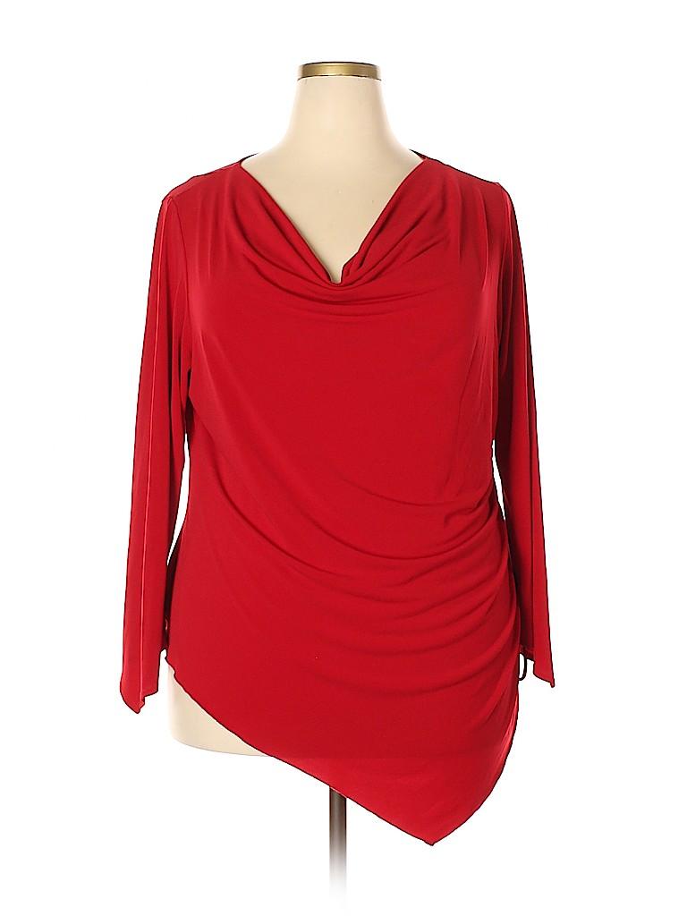 Fashion Bug Women Long Sleeve Top Size 22 - 24 (Plus)