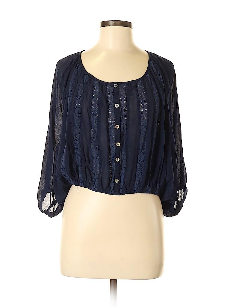 Arden B. Women 3/4 Sleeve Blouse Size M
