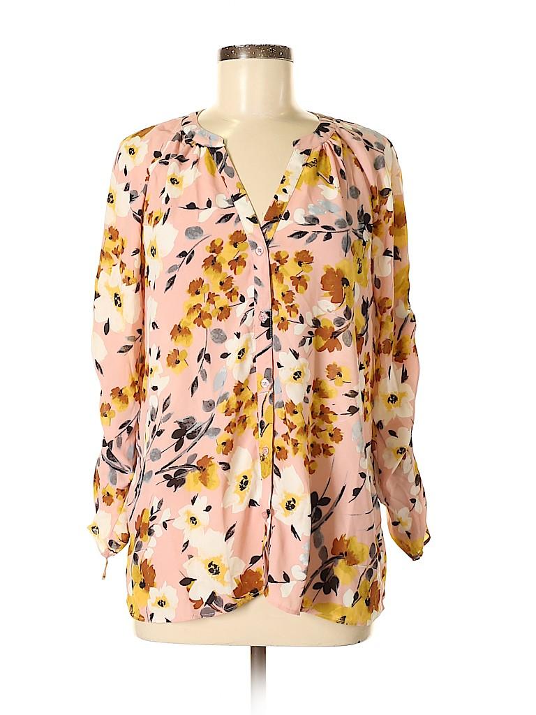 Just Fab Women Long Sleeve Blouse Size M