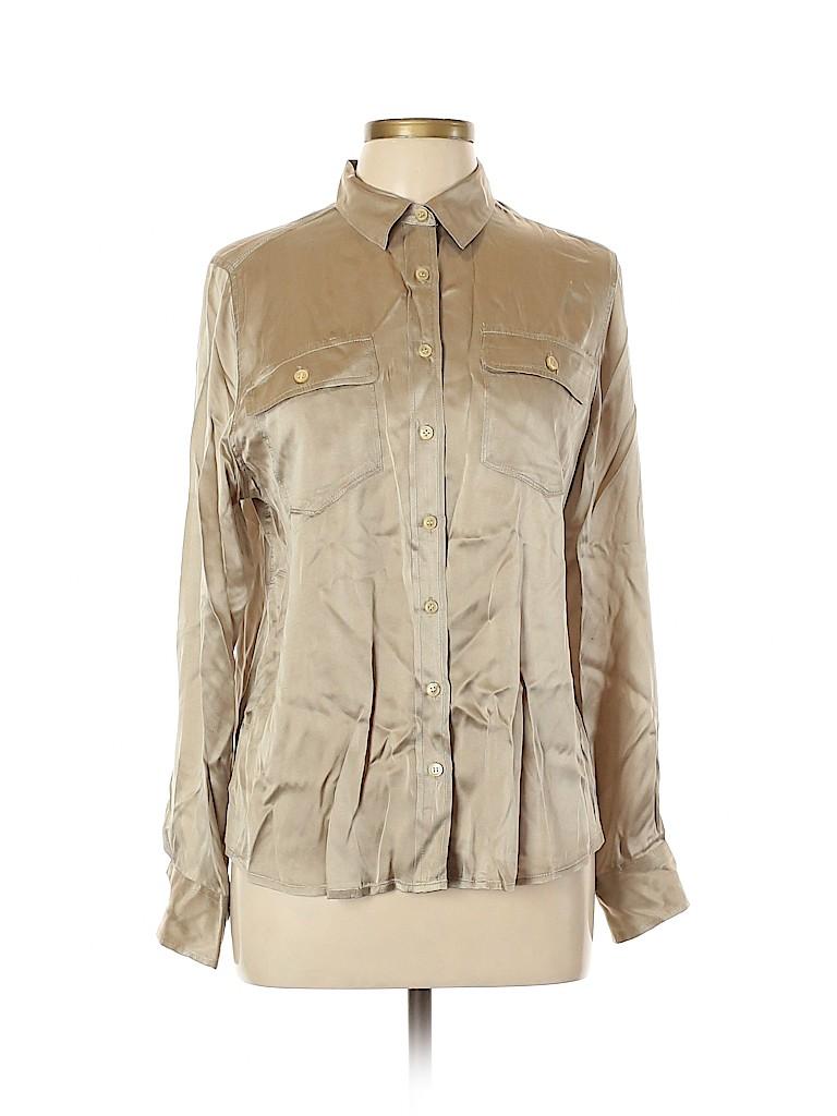 J. Crew Women Long Sleeve Silk Top Size 10